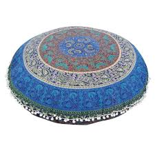 Giant Bohemian Floor Pillows by New Indian Large Mandala Floor Pillows Round Bohemian Cushion