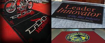 floor mats with logo logo floor mats customizable nylon rug 3 x 10 wide print