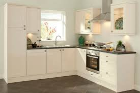 White Polished Maple Wood Kitchen Cabinet For Small