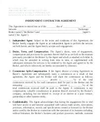 Basic Independent Contractor Agreement Template Free Templates Download Ontario General