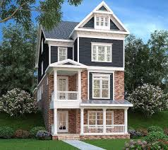 100 Narrow Lot Home Plan 75553GB 3 Level Living In 2019 House