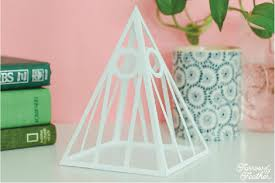 Mod Pyramid Papercraft Decor Assembly Tutorial