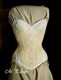 m pardo sand and white corset