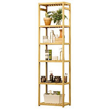 viagdo bambus regal mit 6 ebenen 163cm höhe badregal bambusregal küchenregal standregal bücherregal aufbewahrungsregal badezimmerregal regale für
