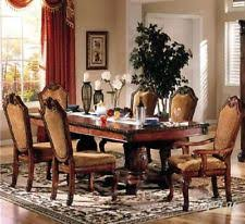 NEW 7PC FORMAL TRADITIONAL CHATEAU RUSTIC CHERRY FINISH WOOD DINING TABLE SET