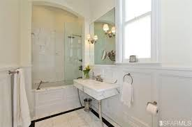 traditional bathroom with wainscoting undermount sink in