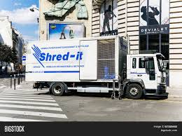 Shred- Truck Working Image & Photo (Free Trial) | Bigstock
