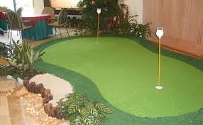 a indoor putting green Modern Home fice Other by F T B Turf
