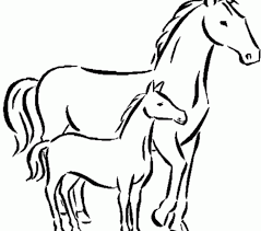 Coloring For Kids Printable Horse Pages At Exterior Picture Page An Attribute Of 9 Photograph
