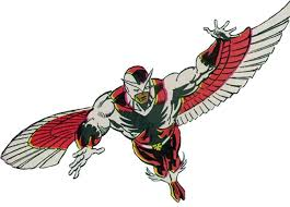 The Falcon Sam Wilson With White Cowled Costume