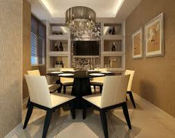 Bathroom Contemporary Dining Room Chandeliers Iron Stained Chair Rectangular Ivory Fury Rug Oval Brown Varnished