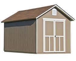 handy home meridian 8x12 wood storage shed kit 19349 1