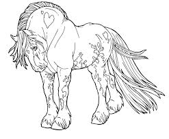 Printable Horseshoe Template Free Horses Coloring Pages Kids Cute Horse Color And Jockey Pictures Mask