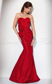 amazing mermaid floor length sweetheart red satin dress amazing