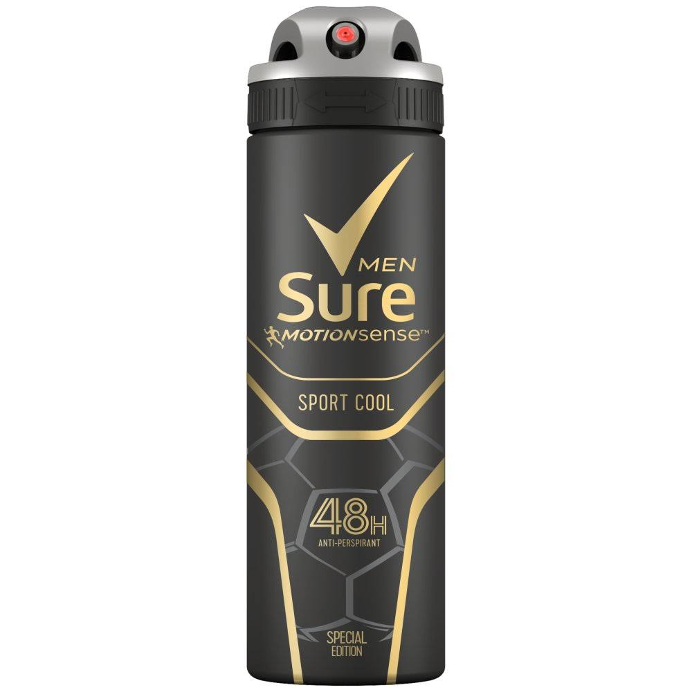 Sure Sport Cool Anti-Perspirant Deodorant Aerosol - 150ml
