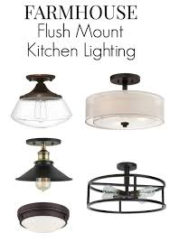 No Room For Pendant Lighting In Your Small Kitchen Here Are 8 Flush Mount Fixture Ideas That Will Add Farmhouse Style To