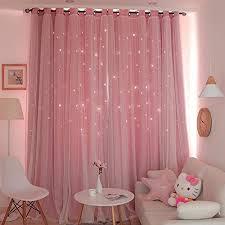 doppelschicht blackout vorhänge mädchen gardinen layer gaze openwork vorhänge prinzessin stil vorhang für zuhause wohnzimmer