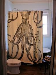 Thomas Paul Octopus Shower Curtain Eclectic Bathroom Atlanta