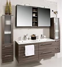 badmöbelset badezimmer möbel set mailand eiche dunkel inkl doppel waschbecken und doppel spiegelschrank als sonderangebot preishit