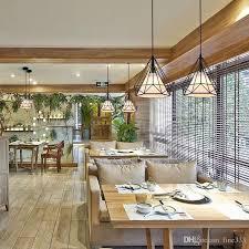 großhandel nordische pendelleuchten bar licht persönlichkeit beleuchtung esszimmer beleuchtung tischstange drei schmiedeeisen diamant restaurant