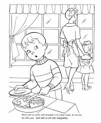 Jesus Overcomes Temptation Coloring Pages
