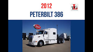 2012 Peterbilt 386 White Sleeper Truck Trade Group - Fall 2016 - YouTube