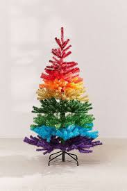The Colorful Branches Of This Ombre Christmas Tree Are So Stunning That People Wont Even Miss Real Pine Metal Stand Is Complementing