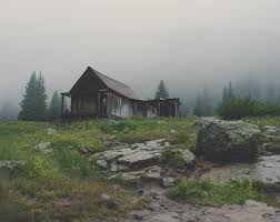 Lonely Mountain Cabin Rustic Fine Art Photography Lost Kat