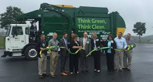 New Fleet Of Waste Management Trash Trucks Burns Cleaner Fuel ...