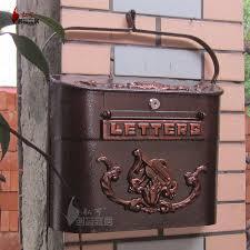 Matte Bronze European mailbox mail box Rustic Iron Mail box
