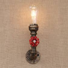 1 light vintage steunk wall l industrial water pipe wall