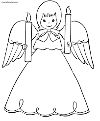 Pictures Of Angels To Color