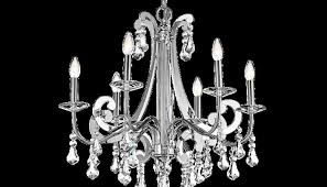 Chandelier Drawing Fancy Contemporary 6 Light With Crystal Chrome