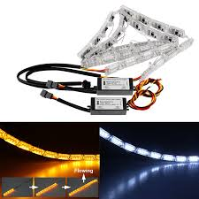 Y103 Free Shipping Water Saving by Amazon Com Led Daytime Running Light Ddsky Car Drl Flowing Turn