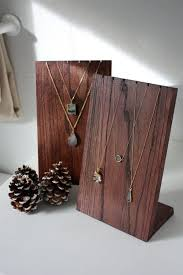 Wooden Necklace Display Stand Retail Craft Fair Jewelry Home Decor