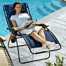 Timber Ridge Folding Lounge Chair by Zero Gravity Lounger Chair Recliner With Side Table By Timber