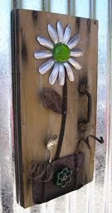 JELLO Rustic Door Floral Wall Art Home Decor Flower Hanging Green Jello