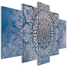 vlies leinwand bilder abstrakt grau ornamente wandbilder