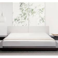 Modloft Platform Bed by Modloft Worth Bed In Walnut Sand W 2 Nightstands Flap Stores