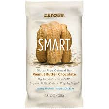 Detour SMART Whole Grain Oatmeal Bar Peanut Butter Chocolate 9