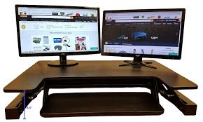 Dual Screen Standing Desk by Standing Desk Height Adjustable Stand Fits Big Monitors 36