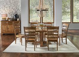 Solid Birch Wood Bennett 48 Round Extension Table In Smoky Quartz Finish