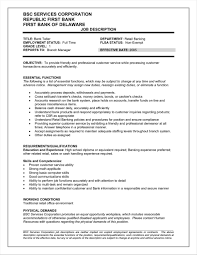 Bank Resume Title Examples For Teller Job Description Resumesdesigncom Rhcom Sample No
