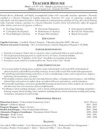 Paraprofessional Resume Sample For Position Business Teacher Samples