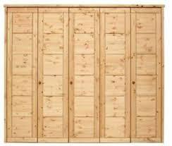 massivholz kleiderschrank 5 türig kiefer gelaugt geölt