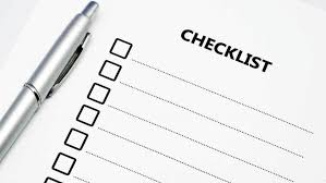 Blank Checklist With Pen