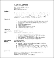Free Creative Fashion Assistant Buyer Resume Template