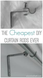 Restoration Hardware Curtain Rod Instructions by The Cheapest Diy Curtain Rods Ever Lovely Etc