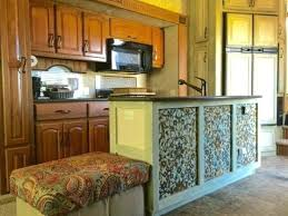 Rv Makeover Paint Pattern And Patina Come Together For A Beautiful Kitchen Update By