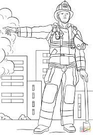 Firefighter Coloring Page Inside Pages